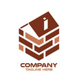 modern logo real estate and wall vector image vector image