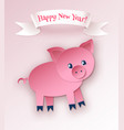 new year postcard with pig character vector image vector image