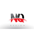 nq n q brush logo letters with red and black vector image vector image
