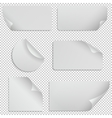 Paper stickers and banners with curled corners vector image