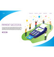 payment successful website landing page vector image vector image