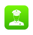 pilot icon digital green vector image vector image