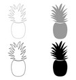pineapple the black and grey color set icon vector image