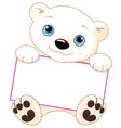 Polar bear sign vector image vector image
