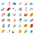 price icons set isometric style vector image vector image
