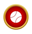 Professional tennis ball icon simple style vector image vector image