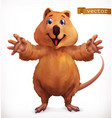 quokka cartoon character funny animal 3d icon vector image