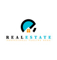 real estate initial letter e logo design template vector image
