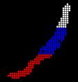 russia colors dot baikal lake map vector image vector image