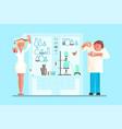 scientist in lab room vector image vector image