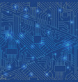 seamless motherboard pattern vector image