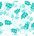seamless pattern with hand drawn turquoise dog vector image vector image