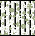 seamless repeat floral and striped pattern design vector image vector image