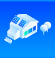 smart house solar panel icon isometric style vector image