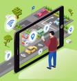 smart parking wireless vector image