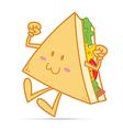 Smile cute sandwich vector image