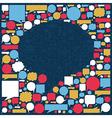Social media talk bubble texture vector image