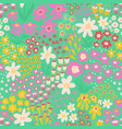 spring flower meadow seamless pattern vector image