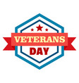 star veterans day logo flat style vector image