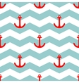 Tile sailor summer pattern with red anchor vector image vector image