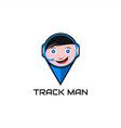 track man logo vector image