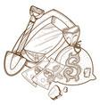 tray for washing gold bearing sand vector image vector image