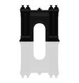 triumphal arch in barcelona vector image vector image