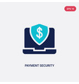 two color payment security icon from e-commerce vector image vector image