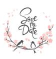 wedding invitation crad vector image vector image