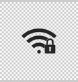 wifi locked sign icon on transparent background vector image vector image