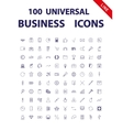 100 Universal Icons vector image