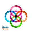 abstract circle icon vector image