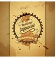 Vintage coffee typography background vector image