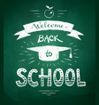welcome back to school poster vector image