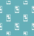 mobile chat pattern seamless blue vector image