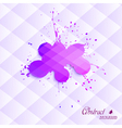 Abstract blot on a triangular background vector image vector image