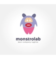 Abstract cartoon monster logo icon concept vector image vector image