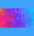 abstract polygonal background neon rainbow vector image vector image