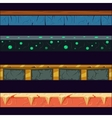 Alien Planet Platformer Level Floor Design Set vector image