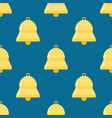 bells ringing seamless pattern vector image vector image