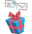 birthday present and invitation children vector image vector image
