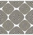 Black and white checkered pattern with rhombs vector image