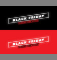 black friday sale banner minimal style glowing vector image vector image
