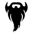 black full beard vector image