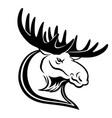 black moose sign vector image