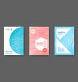 booklet design layouts set vector image