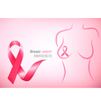 Breast cancer pink background - an awareness vector image vector image