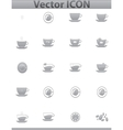 brown coffee icons set Cup and cafe icon vector image