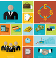 Business And Financial Flat Icon Set vector image