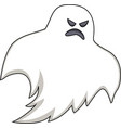 cartoon scary ghost vector image vector image